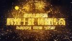 布满华丽金色粒子的新年午夜倒计时开场1缩略图