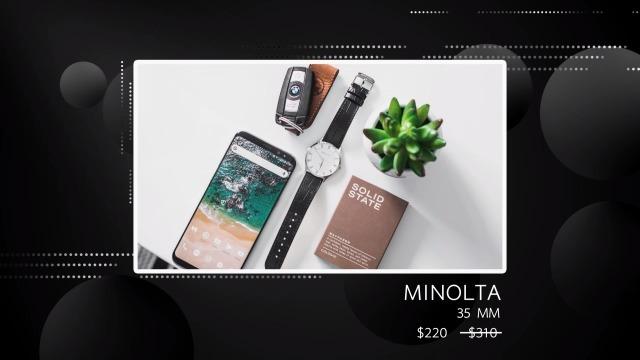 三维球形背景产品展示-黑色4预览图