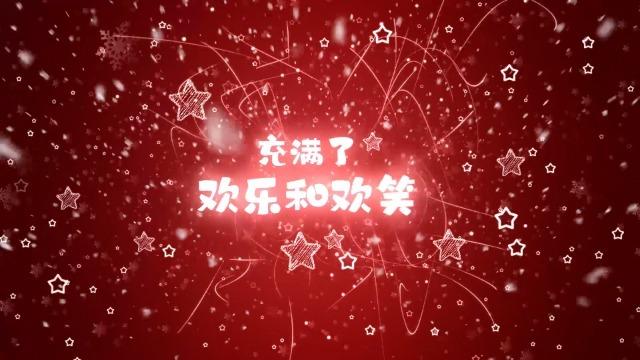 魔法雪花和线条粒子中的圣诞3预览图